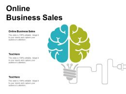 Online Business Sales Ppt Powerpoint Presentation Icon Templates Cpb