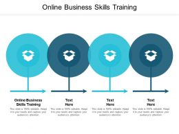 Online Business Skills Training Ppt Powerpoint Presentation Show Vector Cpb