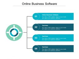 Online Business Software Ppt Powerpoint Presentation Infographic Template Skills Cpb