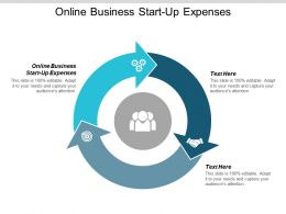 Online Business Start Up Expenses Ppt Powerpoint Presentation Outline Clipart Cpb