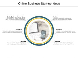 Online Business Start Up Ideas Ppt Powerpoint Presentation Infographics Graphics Template Cpb