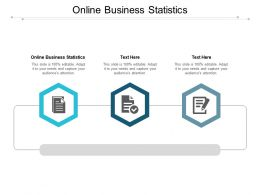 Online Business Statistics Ppt Powerpoint Presentation Infographic Template Graphics Tutorials Cpb