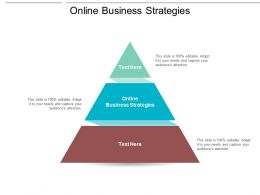 Online Business Strategies Ppt Powerpoint Presentation Infographics Icons Cpb
