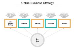 Online Business Strategy Ppt Powerpoint Presentation Ideas Designs Download Cpb