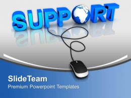 Online Business Support Globe Powerpoint Templates Ppt Themes And Graphics 0313