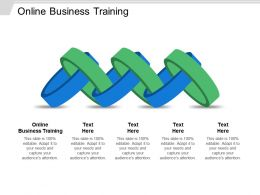 Online Business Training Ppt Powerpoint Presentation Ideas Styles Cpb