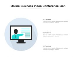 Online Business Video Conference Icon