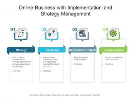 Online Business With Implementation And Strategy Management