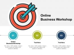Online Business Workshop Ppt Powerpoint Presentation Icon Tips Cpb