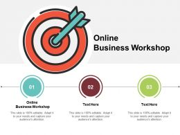 Online Business Workshop Ppt Powerpoint Presentation Infographic Template Background Image Cpb