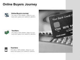 Online Buyers Journey Ppt Powerpoint Presentation Gallery Portrait Cpb