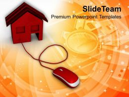 Online Buying Home Internet Technology Powerpoint Templates Ppt Themes And Graphics 0113