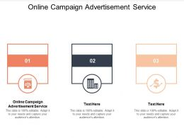 Online Campaign Advertisement Service Ppt Powerpoint Presentation Show Graphics Cpb