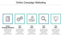 Online Campaign Marketing Ppt Powerpoint Presentation Icon Cpb