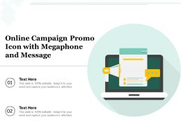 Online Campaign Promo Icon With Megaphone And Message