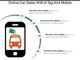 Online Car Sales With A Tag And Mobile