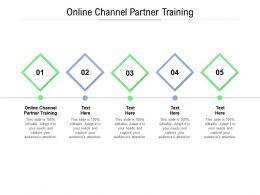 Online Channel Partner Training Ppt Powerpoint File Example File Cpb