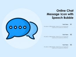 Online Chat Message Icon With Speech Bubble