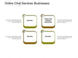 Online Chat Services Businesses Ppt Powerpoint Presentation Icon Grid Cpb