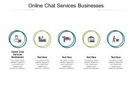Online Chat Services Businesses Ppt Powerpoint Presentation Portfolio Pictures Cpb