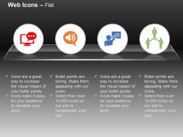 Online Chat Sound Communication Network Leadership Ppt Icons Graphics