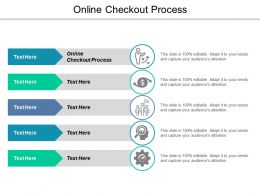 Online Checkout Process Ppt Powerpoint Presentation Icon Layout Ideas Cpb