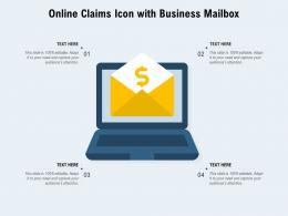 Online Claims Icon With Business Mailbox
