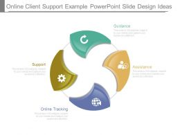 Online Client Support Example Powerpoint Slide Design Ideas