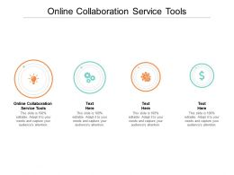 Online Collaboration Service Tools Ppt Powerpoint Presentation Icon Template Cpb
