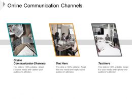 Online Communication Channels Ppt Powerpoint Presentation Slides Template Cpb