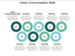 Online Communication Skills Ppt Powerpoint Presentation Ideas Templates Cpb