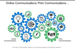 Online Communications Print Communications Community Outreach Public Relations