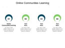 Online Communities Learning Ppt Powerpoint Presentation Show Infographics Cpb