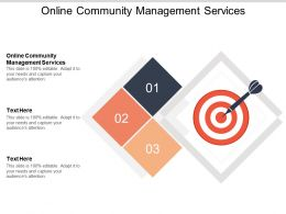 Online Community Management Services Ppt Powerpoint Presentation Layouts Good Cpb