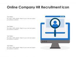 Online Company HR Recruitment Icon