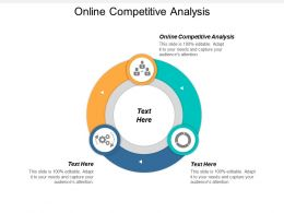 Online Competitive Analysis Ppt Powerpoint Presentation File Grid Cpb