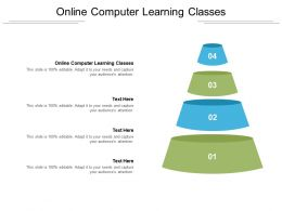 Online Computer Learning Classes Ppt Powerpoint Presentation Portfolio Shapes Cpb