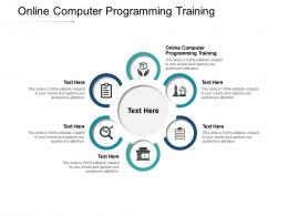 Online Computer Programming Training Ppt Powerpoint Presentation Infographics Examples Cpb