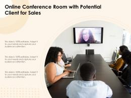 Online Conference Room With Potential Client For Sales