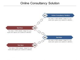 Online Consultancy Solution Ppt Powerpoint Presentation Infographics Layouts Cpb
