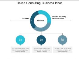 Online Consulting Business Ideas Ppt Powerpoint Presentation Summary Example Cpb