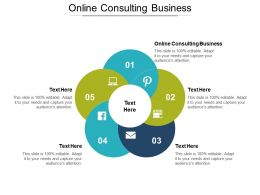 Online Consulting Business Ppt Powerpoint Presentation Icon Design Templates Cpb