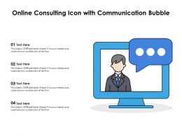 Online Consulting Icon With Communication Bubble
