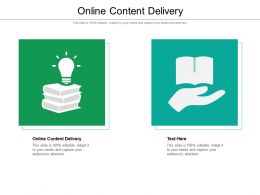 Online Content Delivery Ppt Powerpoint Presentation Ideas Sample Cpb