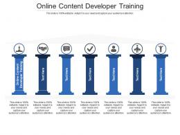 Online Content Developer Training Ppt Powerpoint Presentation Styles Professional Cpb
