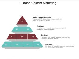 Online Content Marketing Ppt Powerpoint Presentation Gallery Portfolio Cpb