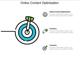 Online Content Optimization Ppt Powerpoint Presentation Infographic Template Clipart Cpb