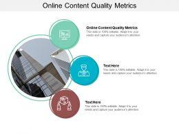 Online Content Quality Metrics Ppt Powerpoint Presentation Ideas Format Cpb