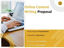 Online Content Writing Proposal Powerpoint Presentation Slides
