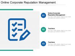 Online Corporate Reputation Management Ppt Powerpoint Presentation File Guidelines Cpb